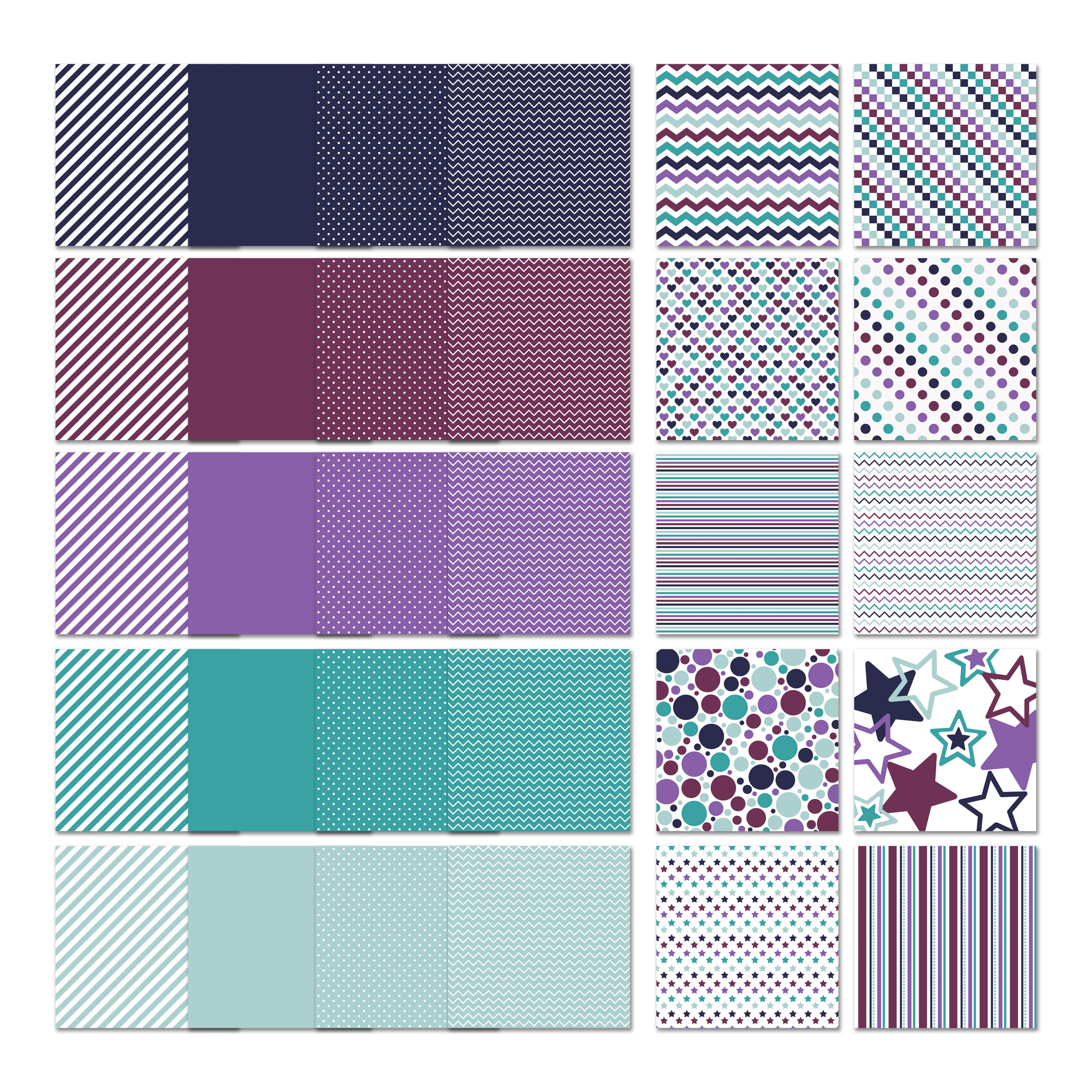 Print on Demand: Frozen Digital Papers Graphic Backgrounds By oldmarketdesigns - Image 2
