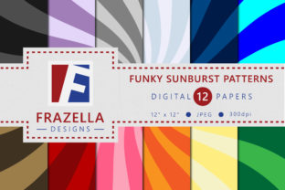 Download Free Funky Sunburst Pattern Digital Paper Collection Graphic By for Cricut Explore, Silhouette and other cutting machines.