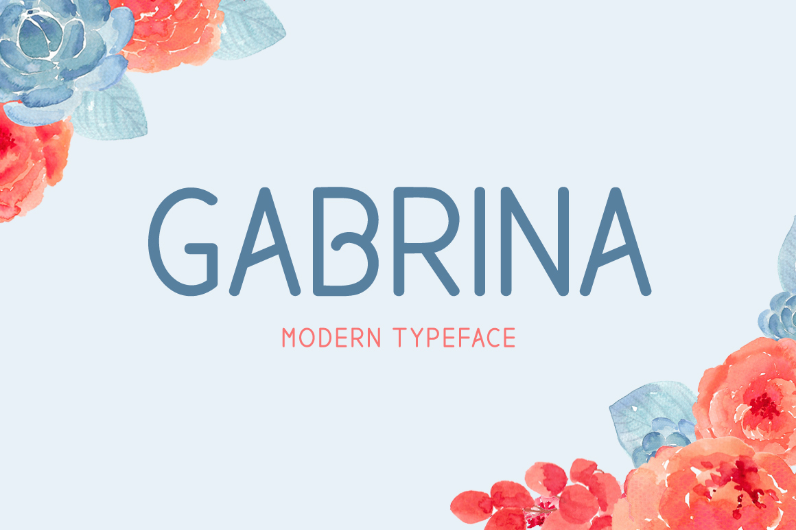 Print on Demand: Gabrina Display Font By No Gravity Type
