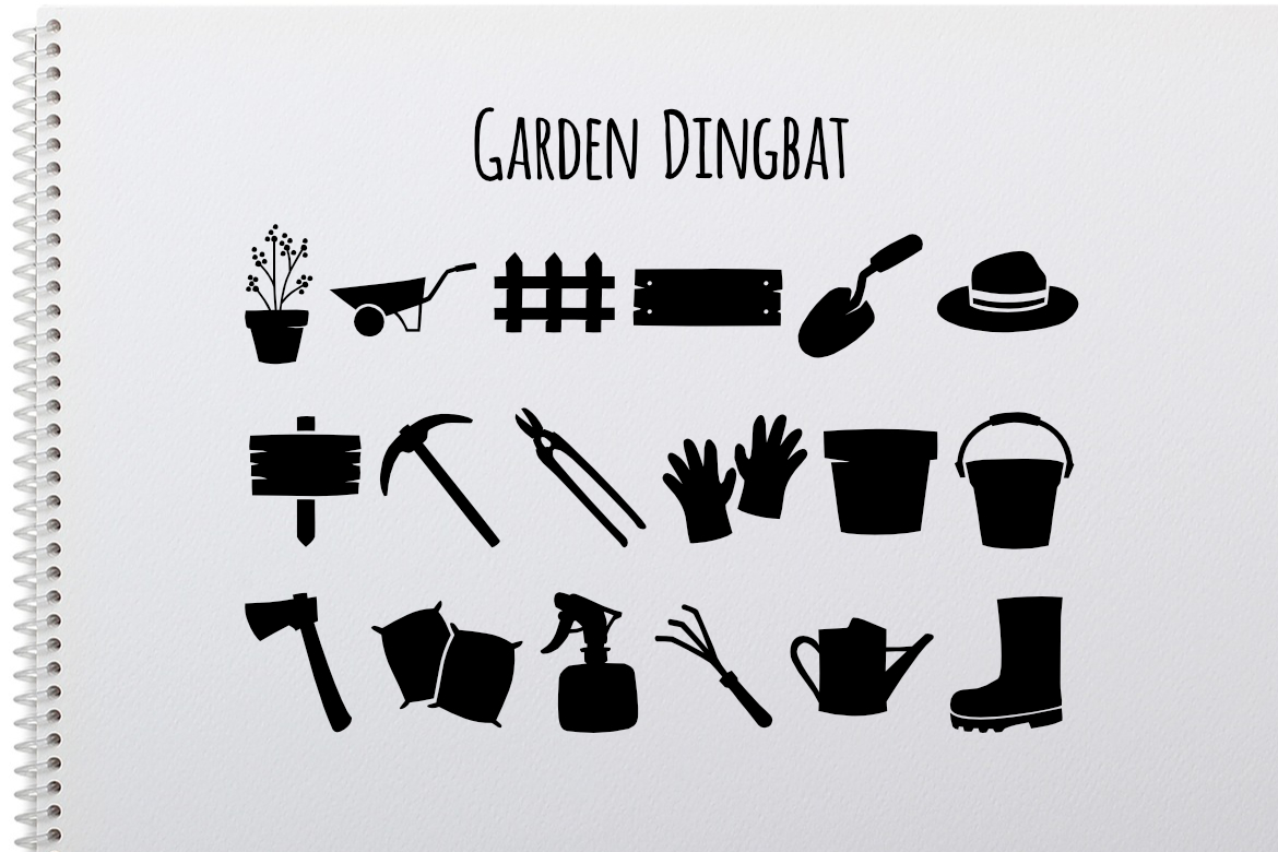 Print on Demand: Garden Dingbat Dingbats Font By LebahStudio