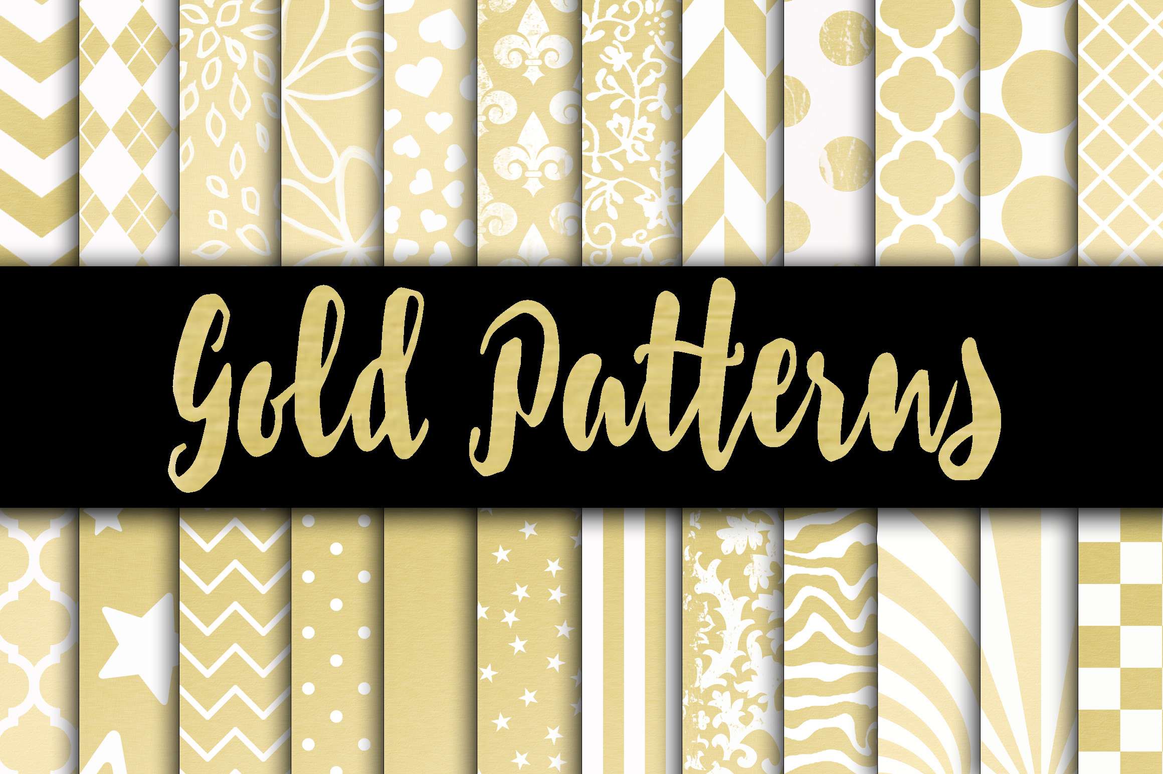Gold Digital Paper Patterns Graphic Backgrounds By oldmarketdesigns