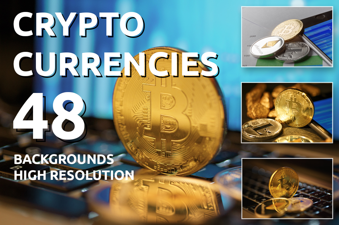 Print on Demand: Golden Bitcoin Coin JPG Set Graphic Business By MyStocks