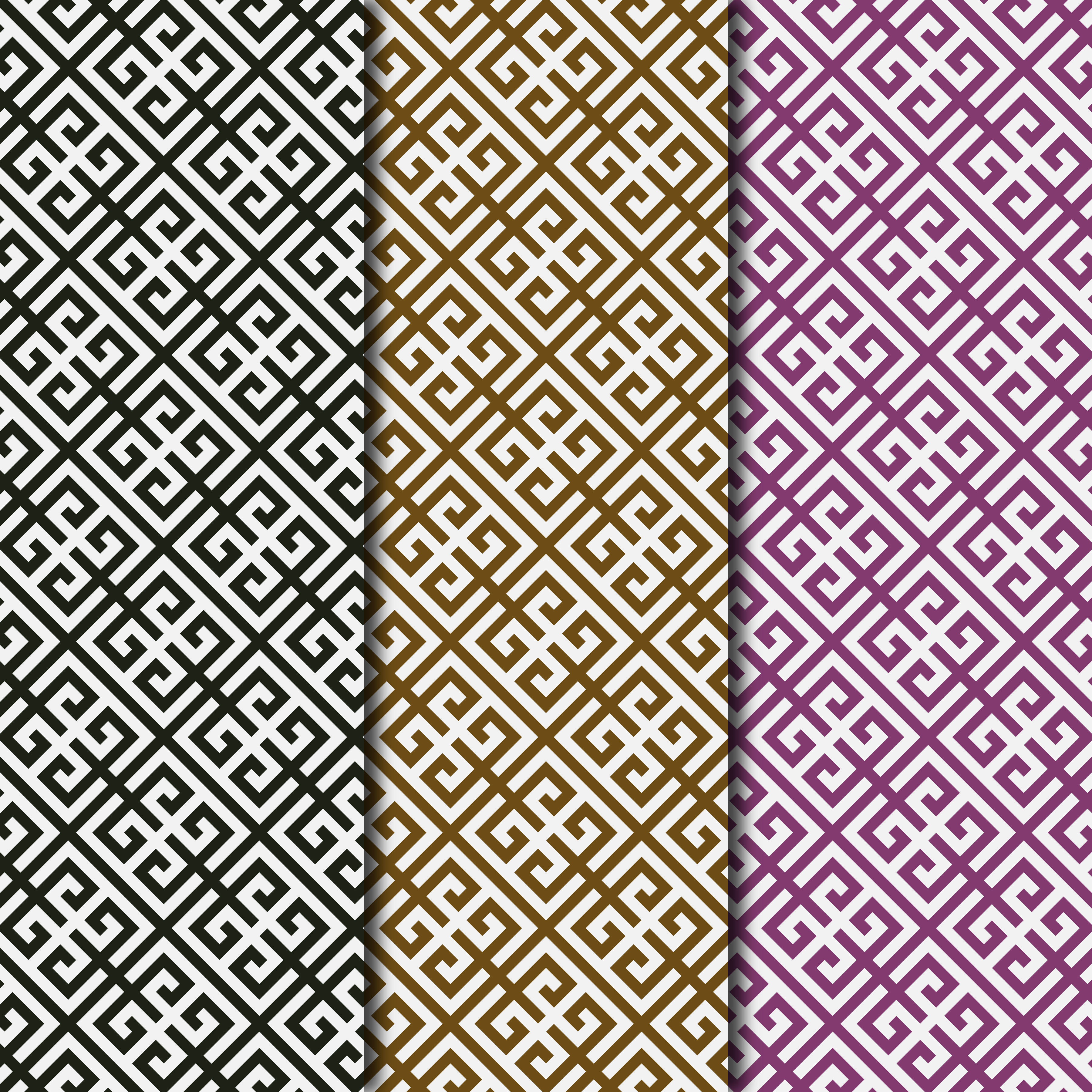 Download Free Greek Key Pattern Digital Paper Collection Graphic By Frazella for Cricut Explore, Silhouette and other cutting machines.