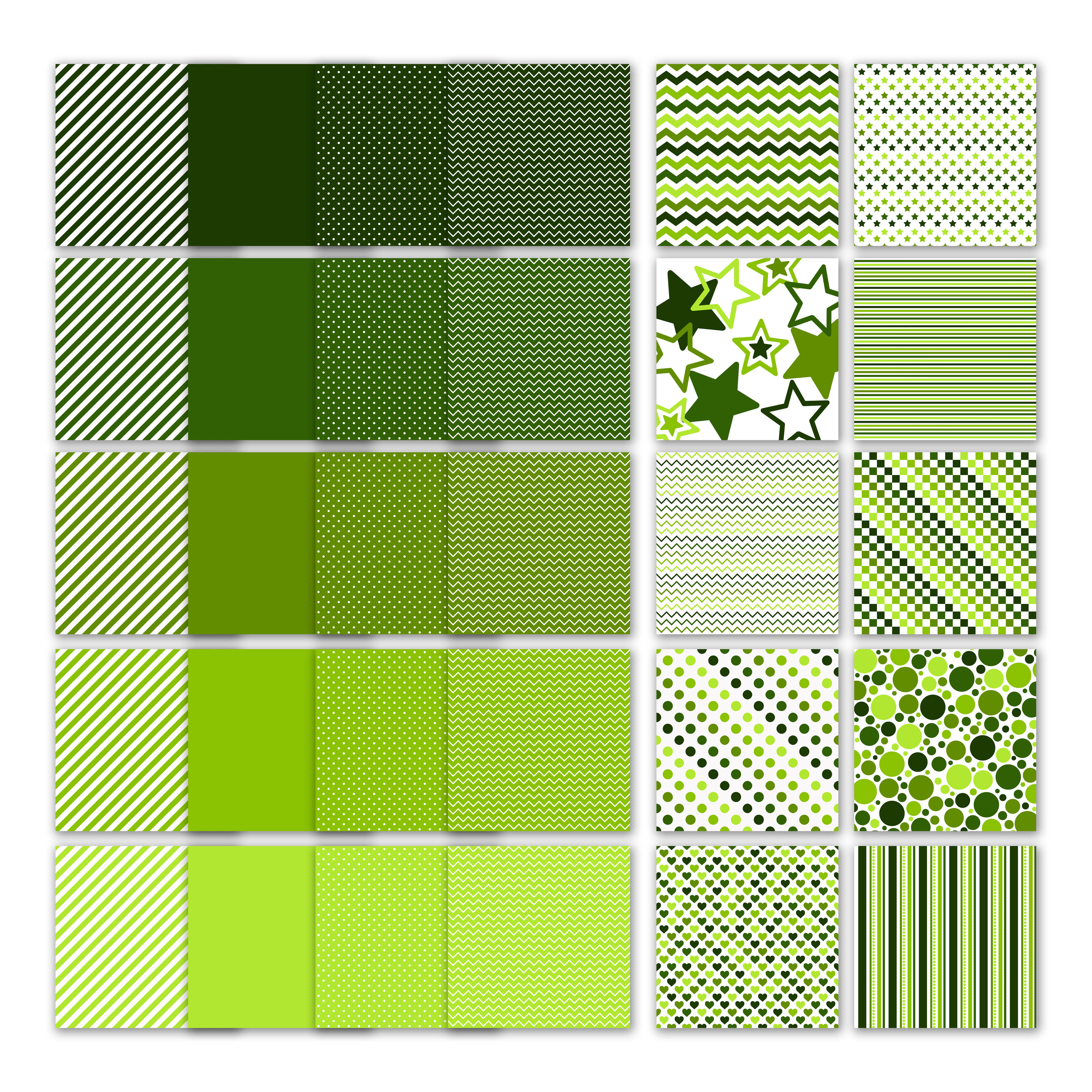 Print on Demand: Green Digital Paper Graphic Backgrounds By oldmarketdesigns - Image 2