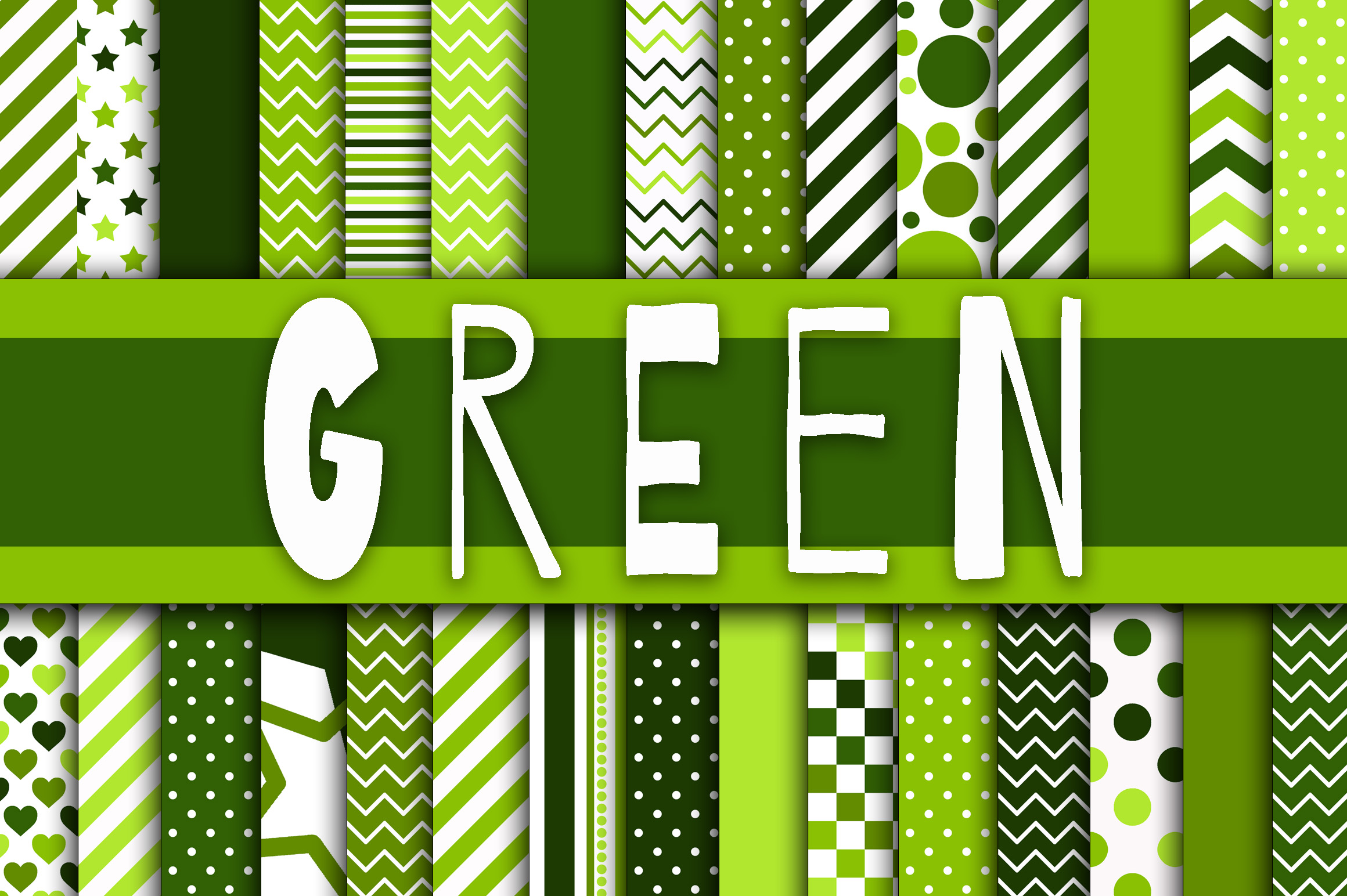 Print on Demand: Green Digital Paper Graphic Backgrounds By oldmarketdesigns - Image 1