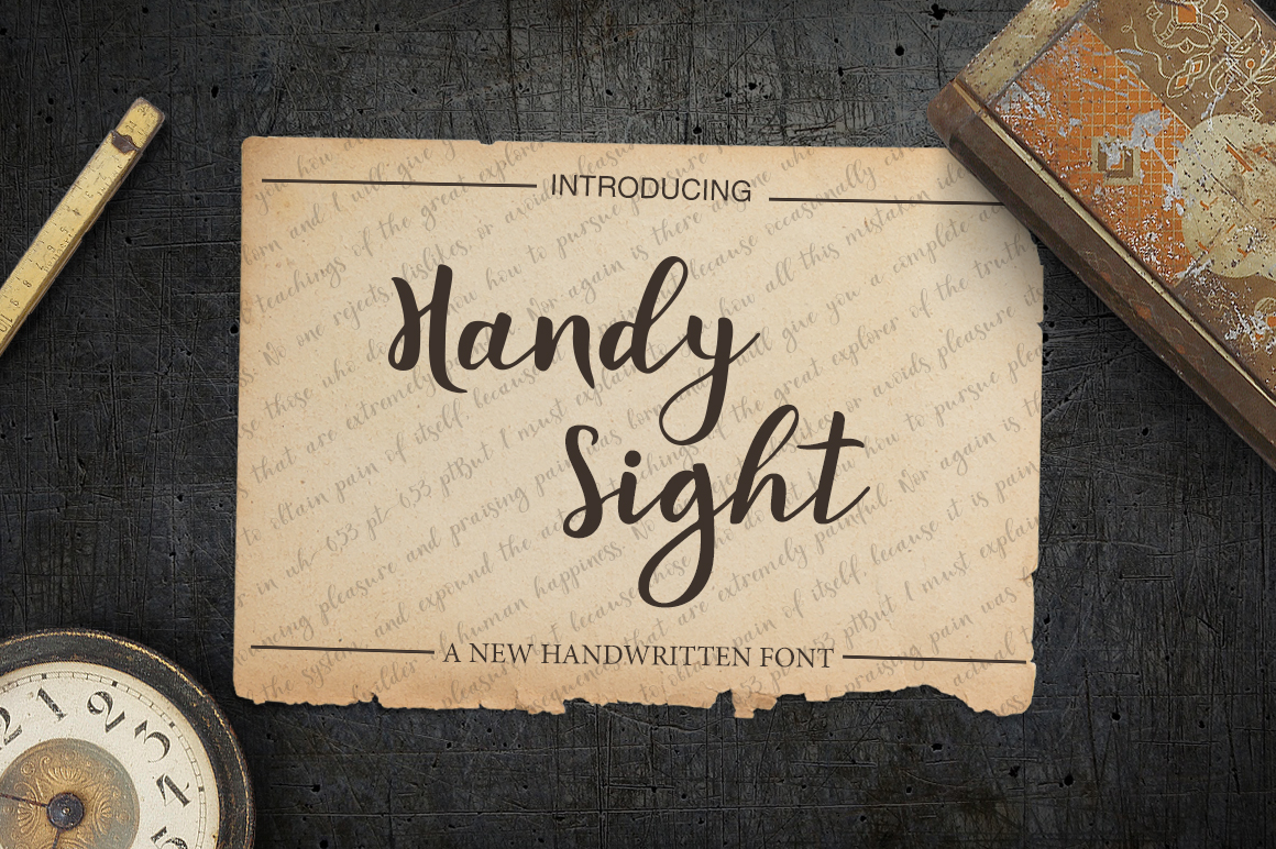 Print on Demand: Handy Sight Script & Handwritten Font By tregubova.jul