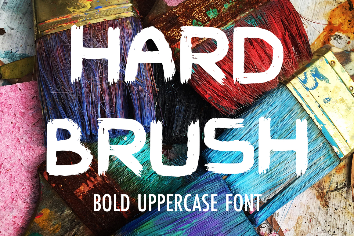 Hard Brush Display Font By InkandBrush