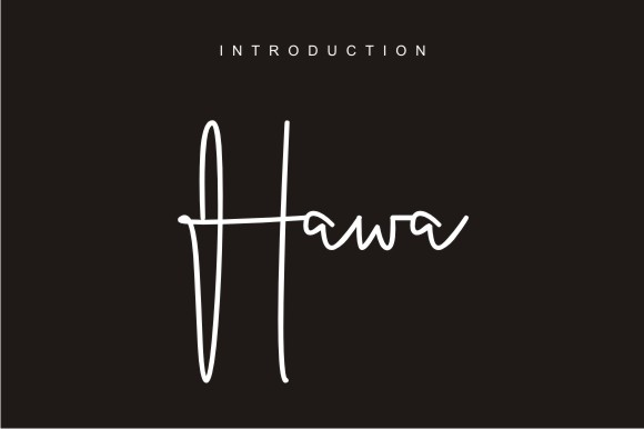 Print on Demand: Hawa Script & Handwritten Font By harisprawoto