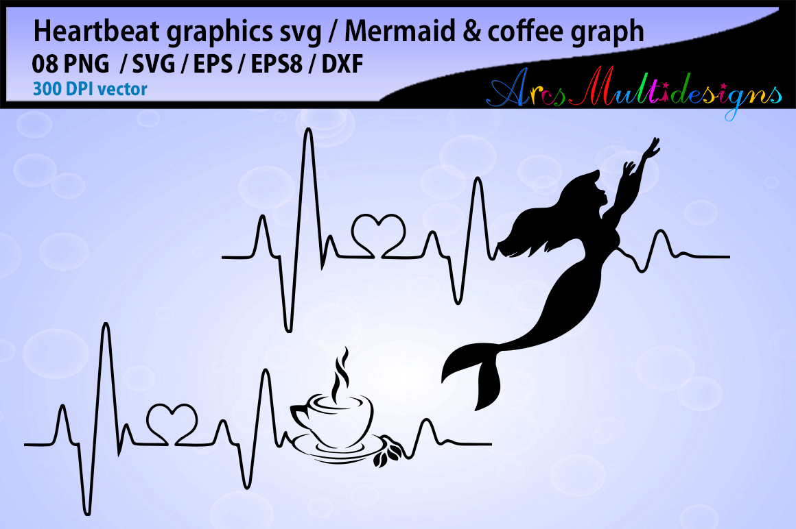 Download Free Heartbeats Files Graphic By Arcs Multidesigns Creative Fabrica for Cricut Explore, Silhouette and other cutting machines.