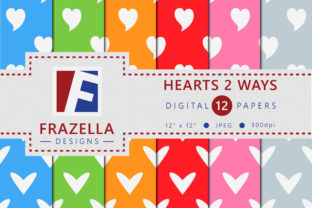 Download Free Hearts 2 Ways Pattern Digital Paper Collection Graphic By for Cricut Explore, Silhouette and other cutting machines.