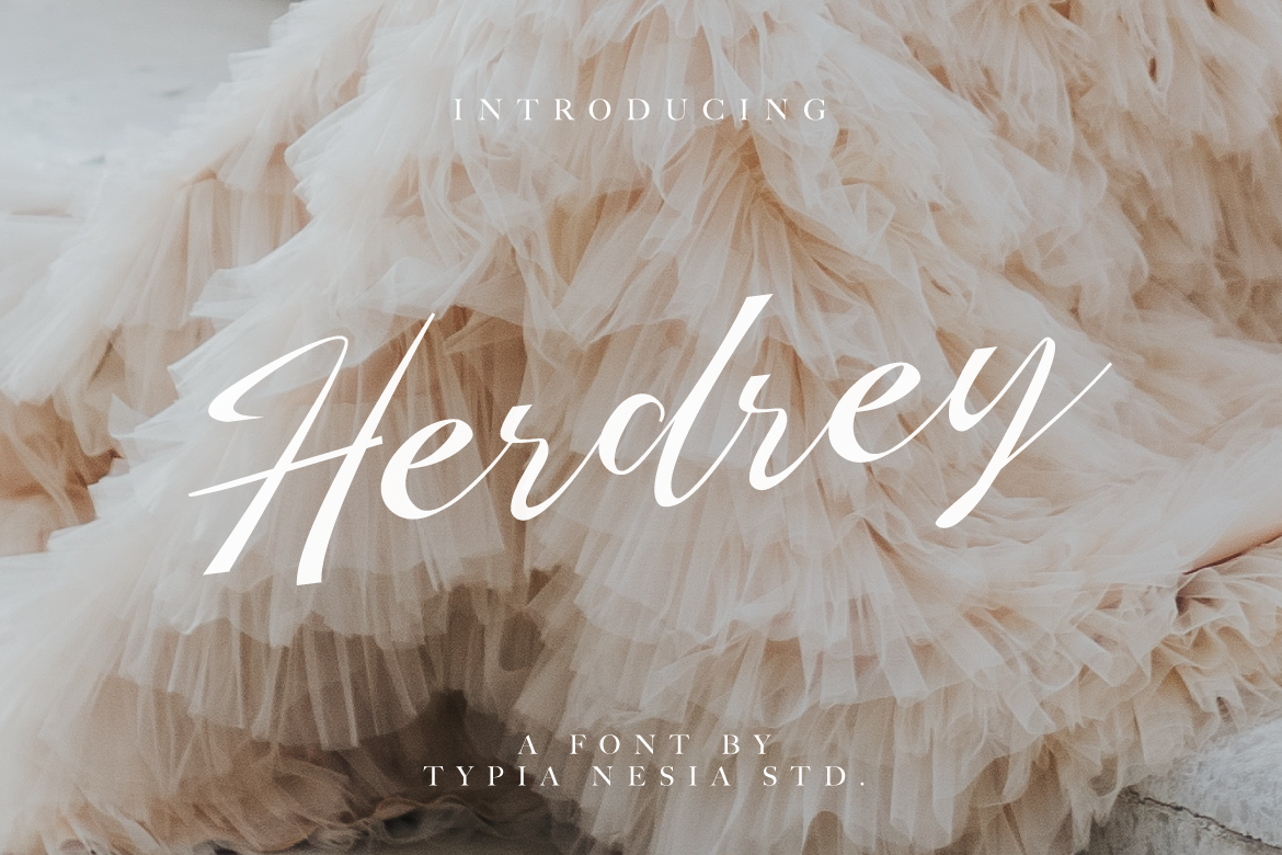 Print on Demand: Herdrey Script & Handwritten Font By Typia Nesia