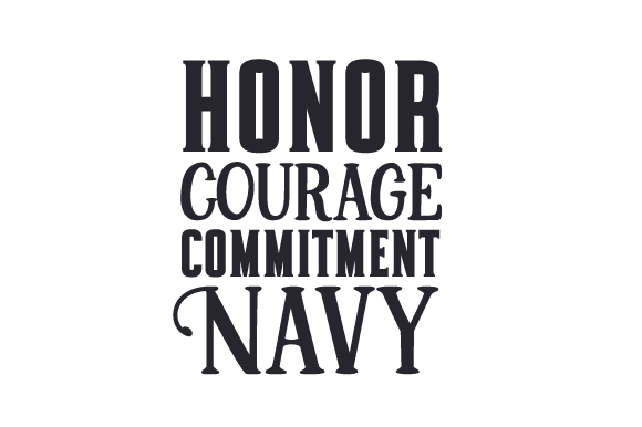 Honor. Courage. Commitment. Navy Military Craft Cut File By Creative Fabrica Crafts