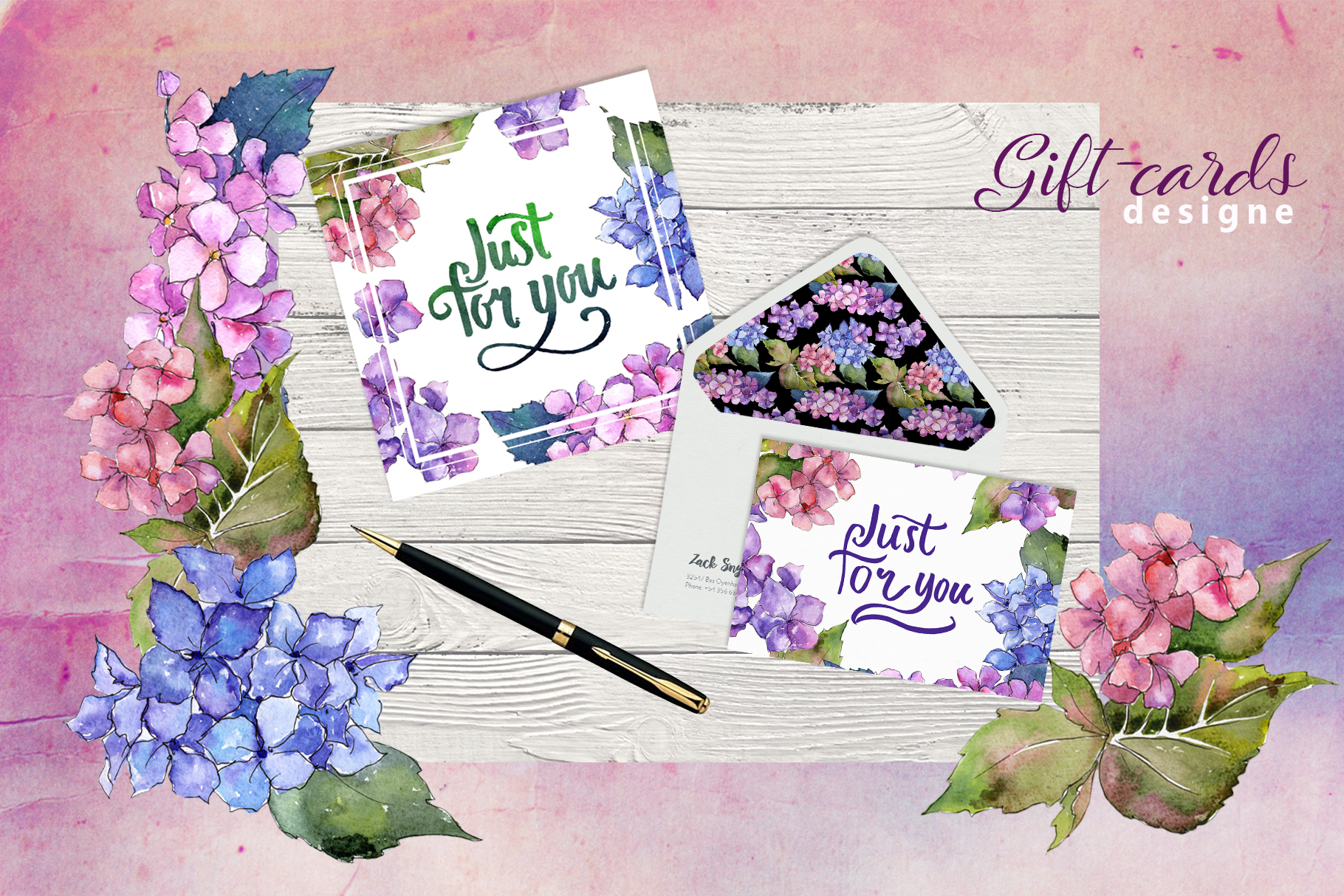 Print on Demand: Hydrangea PNG Watercolor Flower Set Graphic Illustrations By MyStocks - Image 3