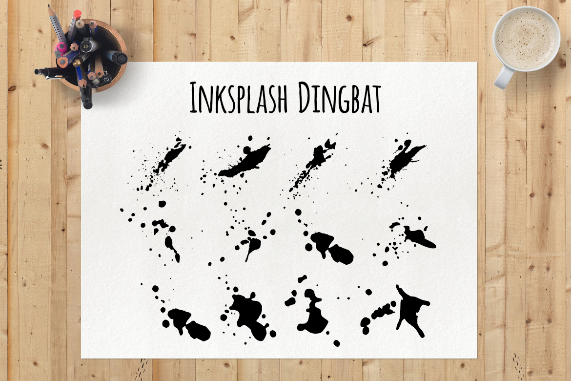 Inksplash Dingbat Font By LebahStudio