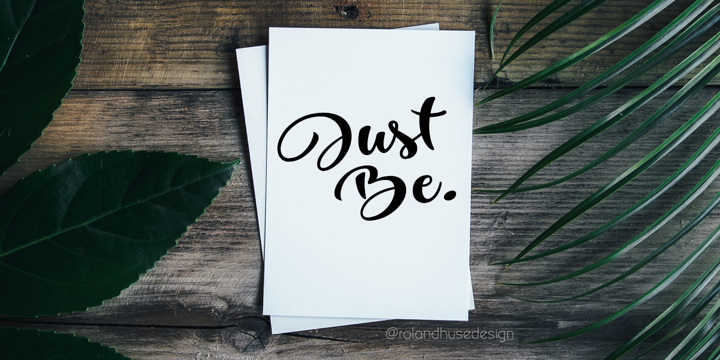 Print on Demand: Just Be Script & Handwritten Font By Roland Hüse - Image 1
