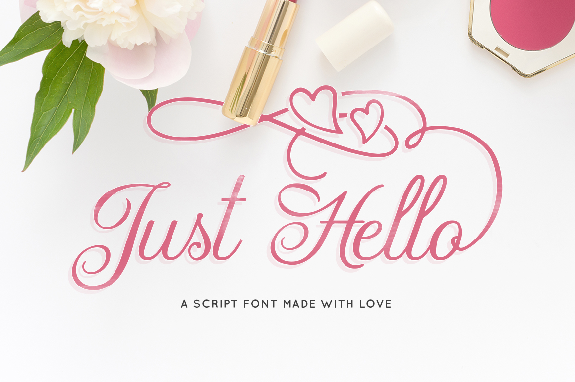 Print on Demand: Just Hello Script & Handwritten Font By Maroon Baboon