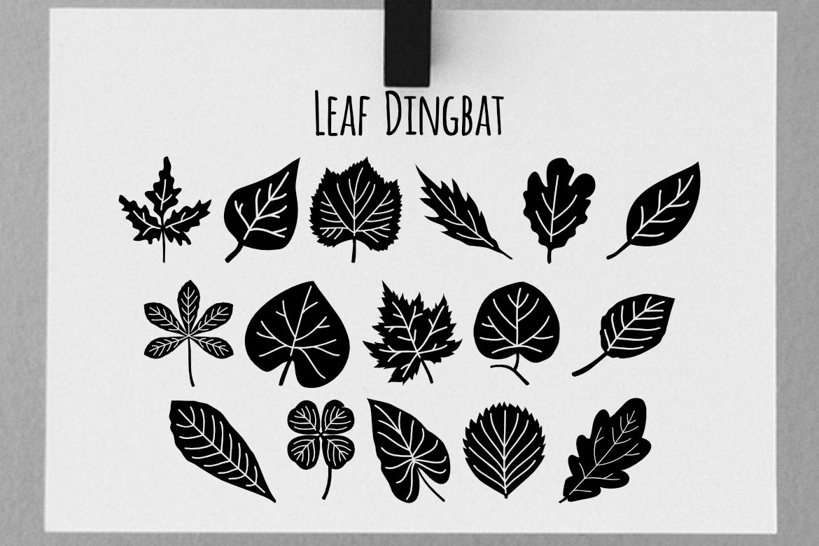 Print on Demand: Leaf Dingbat Dingbats Font By LebahStudio