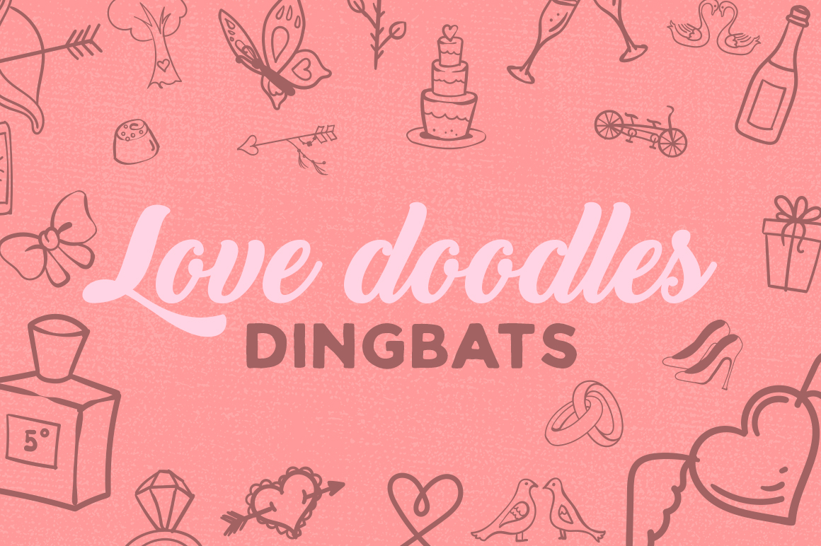 Print on Demand: Love Doodles Dingbat Dingbats Font By Creative Fabrica Fonts - Image 1