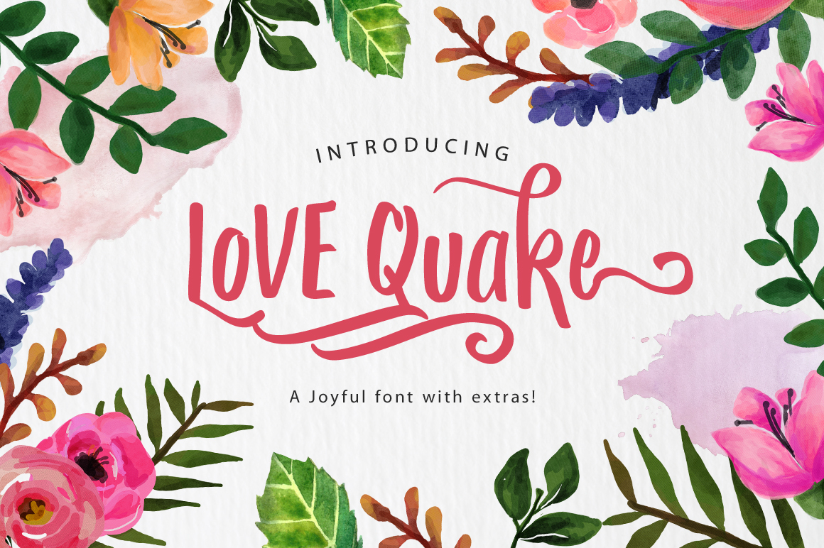 Print on Demand: Love Quake Script & Handwritten Font By Arterfak Project