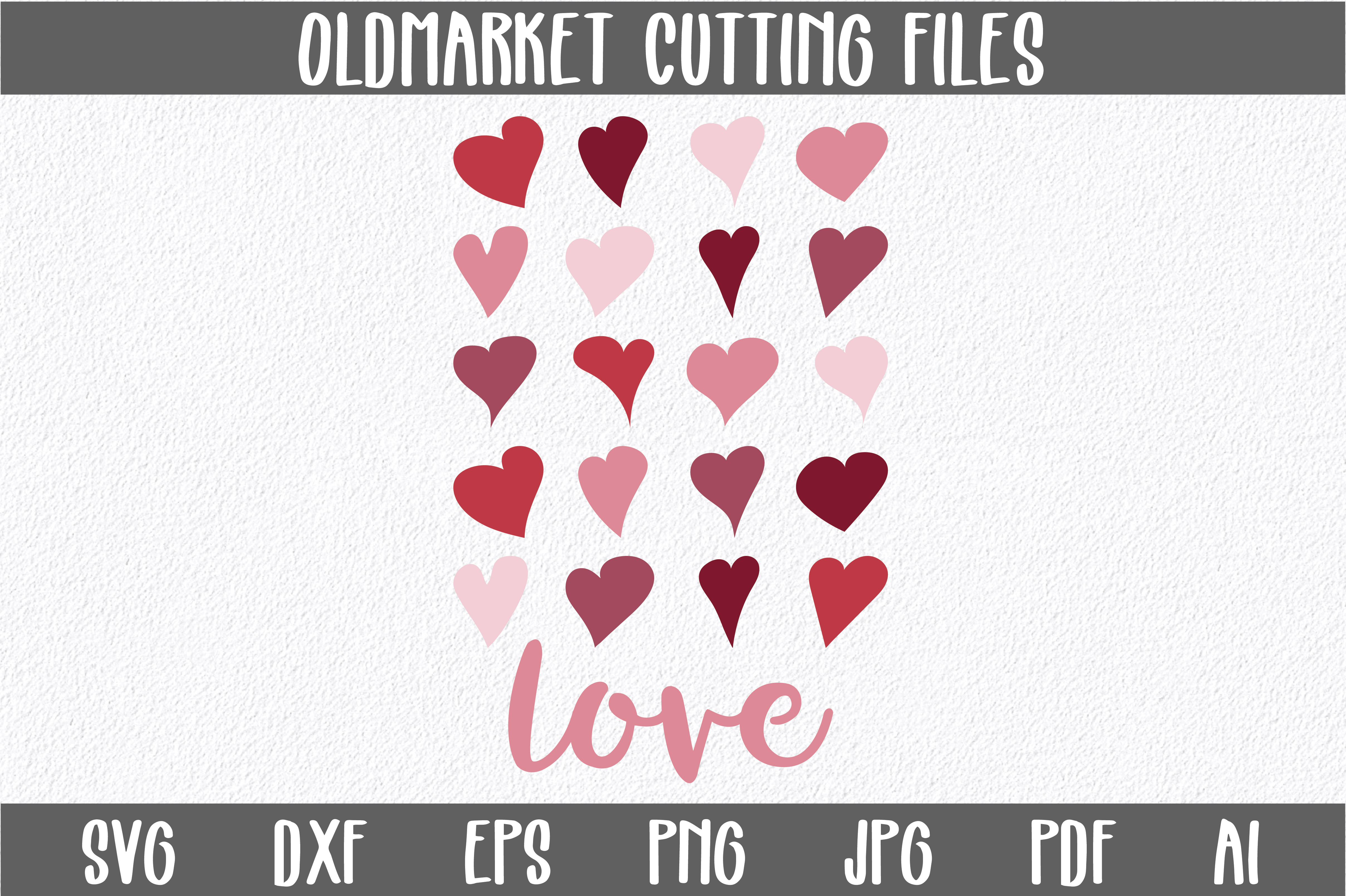 Download Free Love With Hearts Svg Cut File Graphic By Oldmarketdesigns for Cricut Explore, Silhouette and other cutting machines.