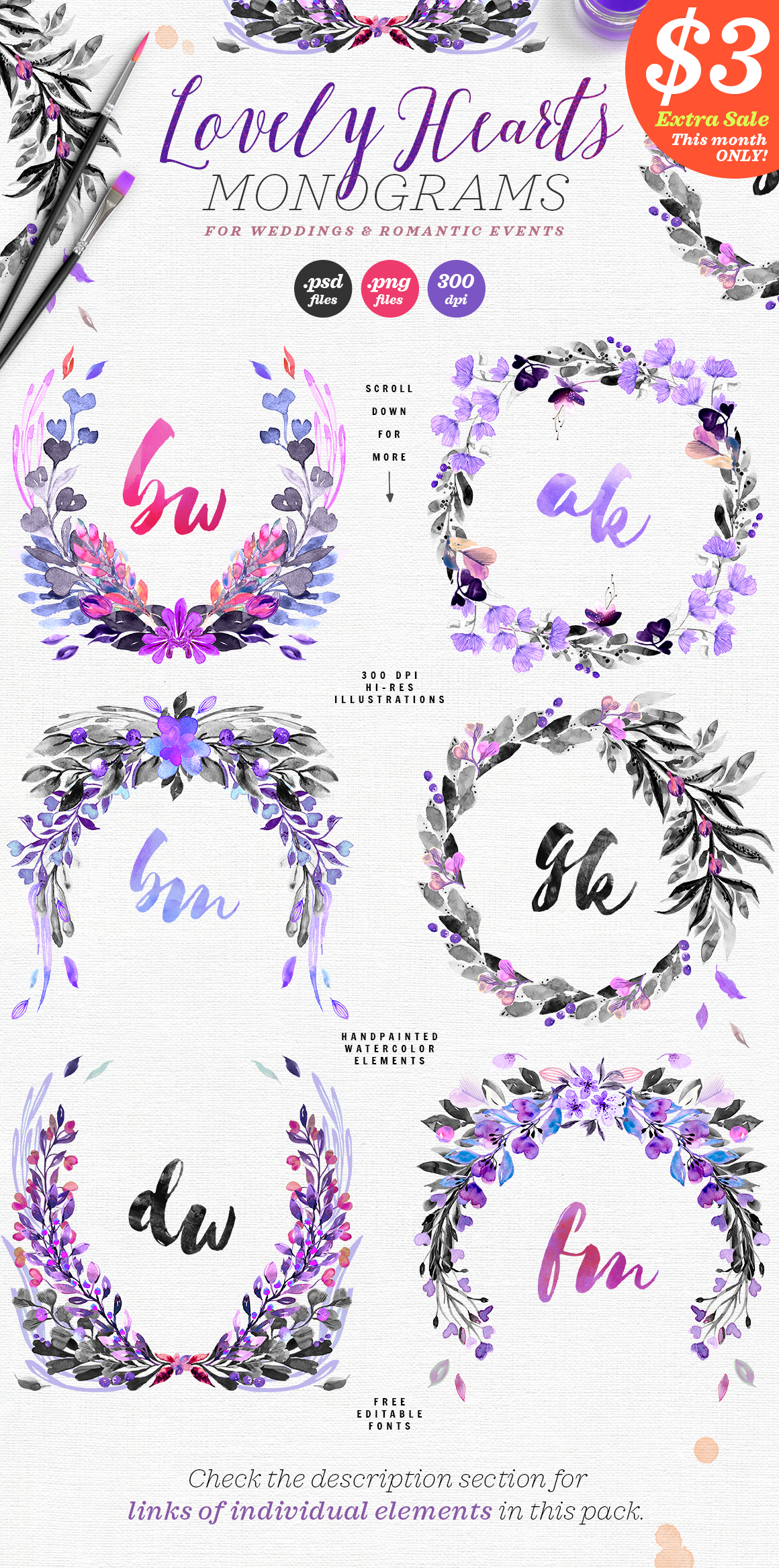 Lovely Hearts Monograms Graphic By lavie1blonde Image 2