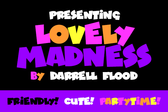 Print on Demand: Lovely Madness Display Font By Dadiomouse - Image 1