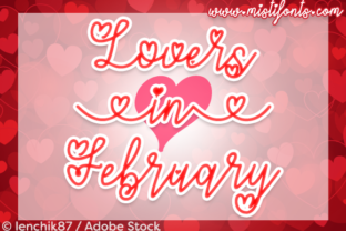 Lovers in February Font By Misti