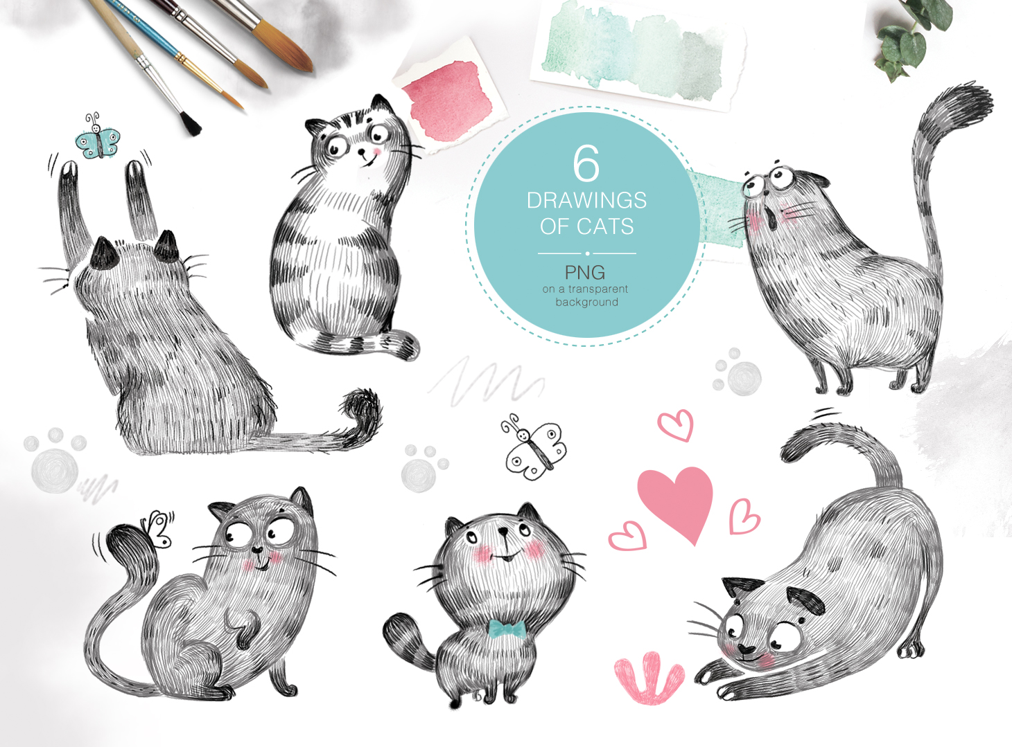 Download Free Meow Joy Graphic Pack Graphic By Sto Va Creative Fabrica for Cricut Explore, Silhouette and other cutting machines.