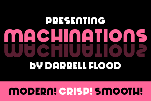 Print on Demand: Machinations Serif Schriftarten von Dadiomouse
