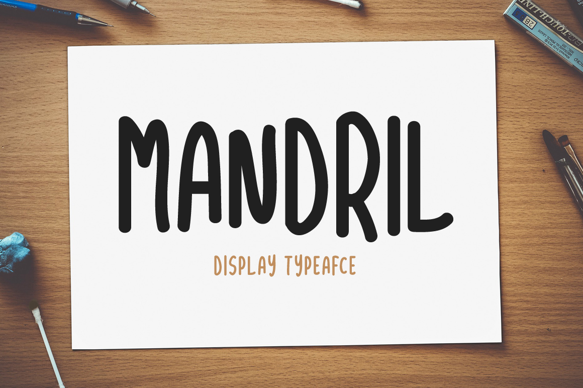 Print on Demand: Mandril Display Font By Contour Fonts