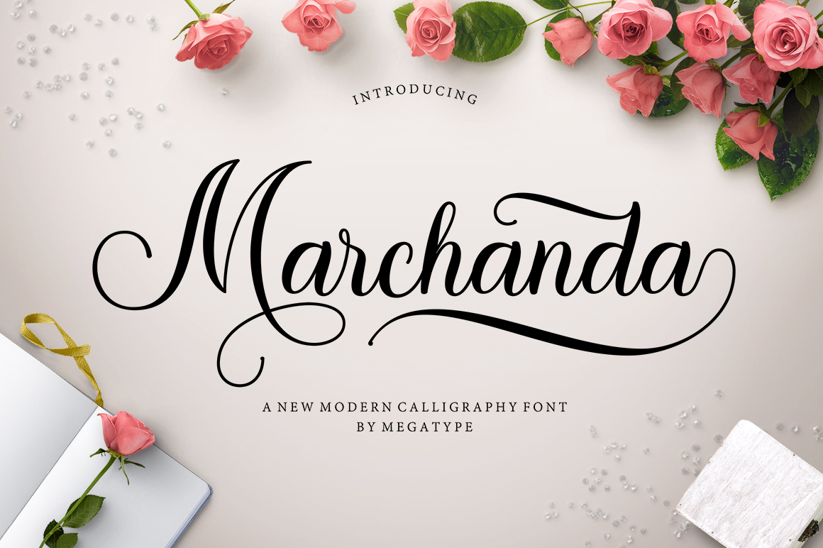 Print on Demand: Marchanda Script & Handwritten Font By Megatype