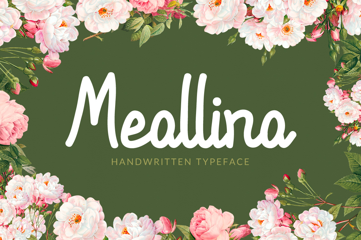 Print on Demand: Meallina Script & Handwritten Font By Contour Fonts