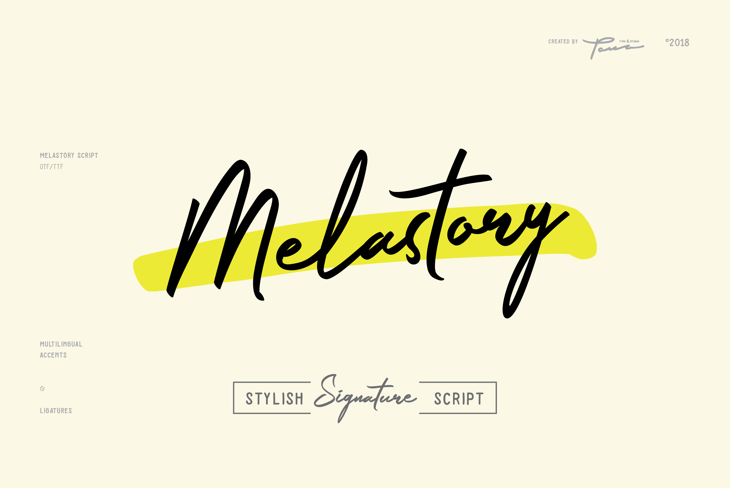 Print on Demand: Melastory Script Script & Handwritten Font By Pana Type