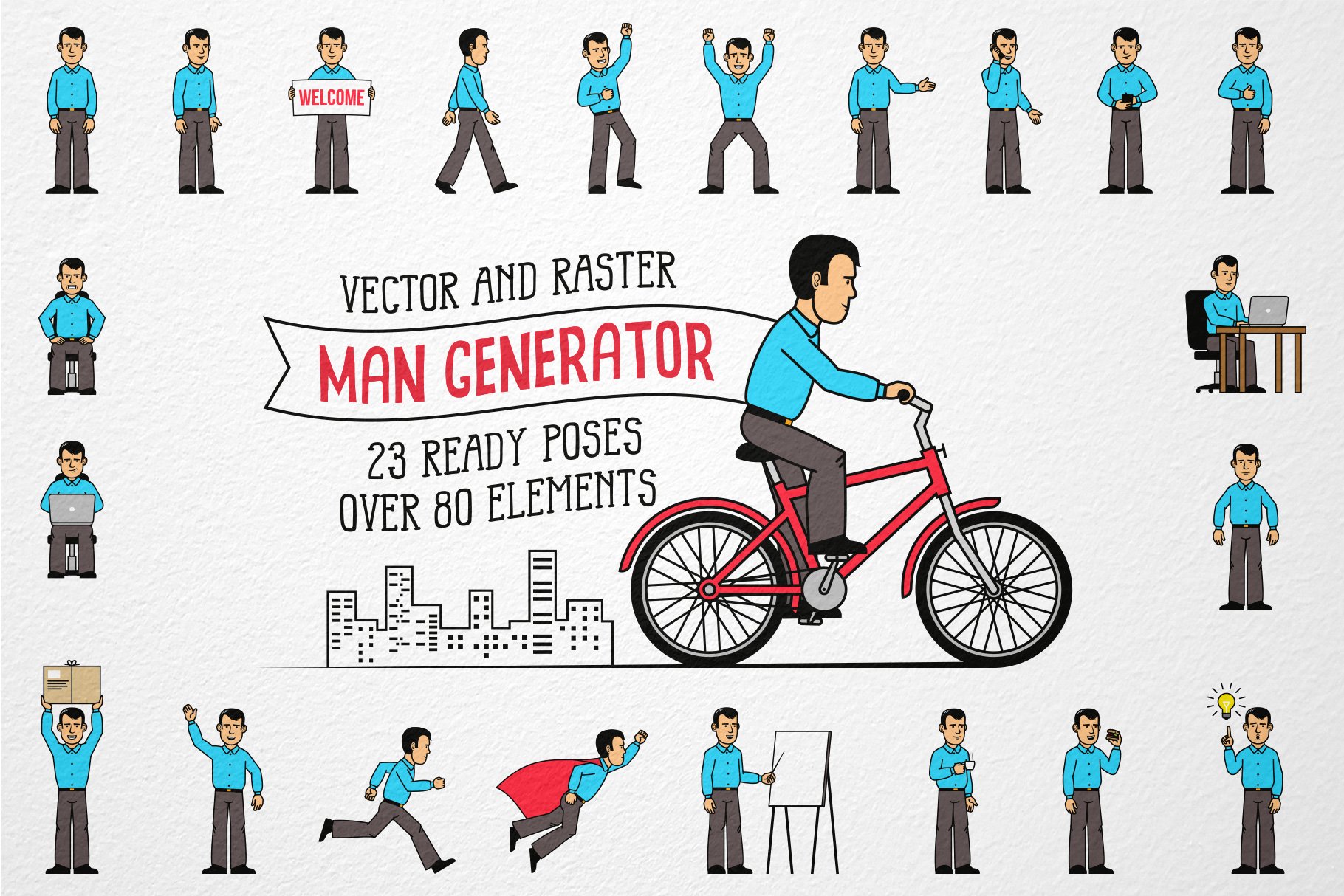 Men Character Generator Graphic By Agor2012
