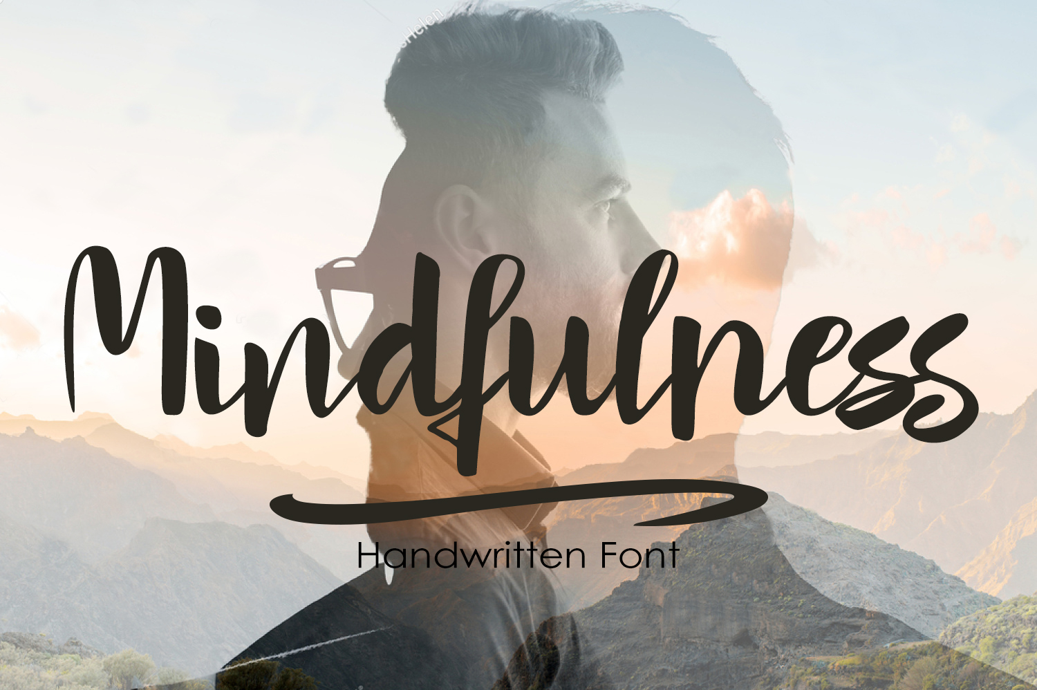 Print on Demand: Mindfulness Script & Handwritten Font By tregubova.jul