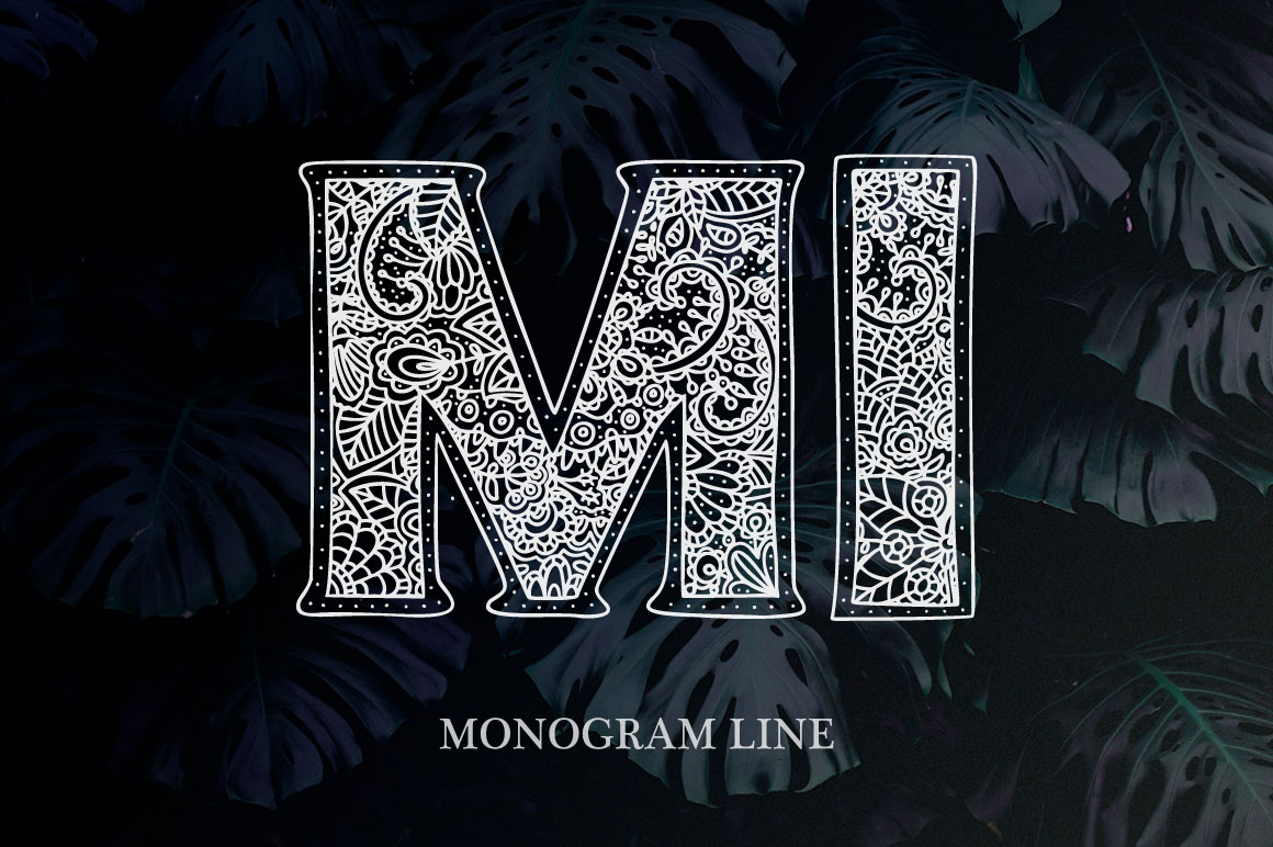 Print on Demand: Monogram Font Family Decorative Font By Red Ink - Image 2