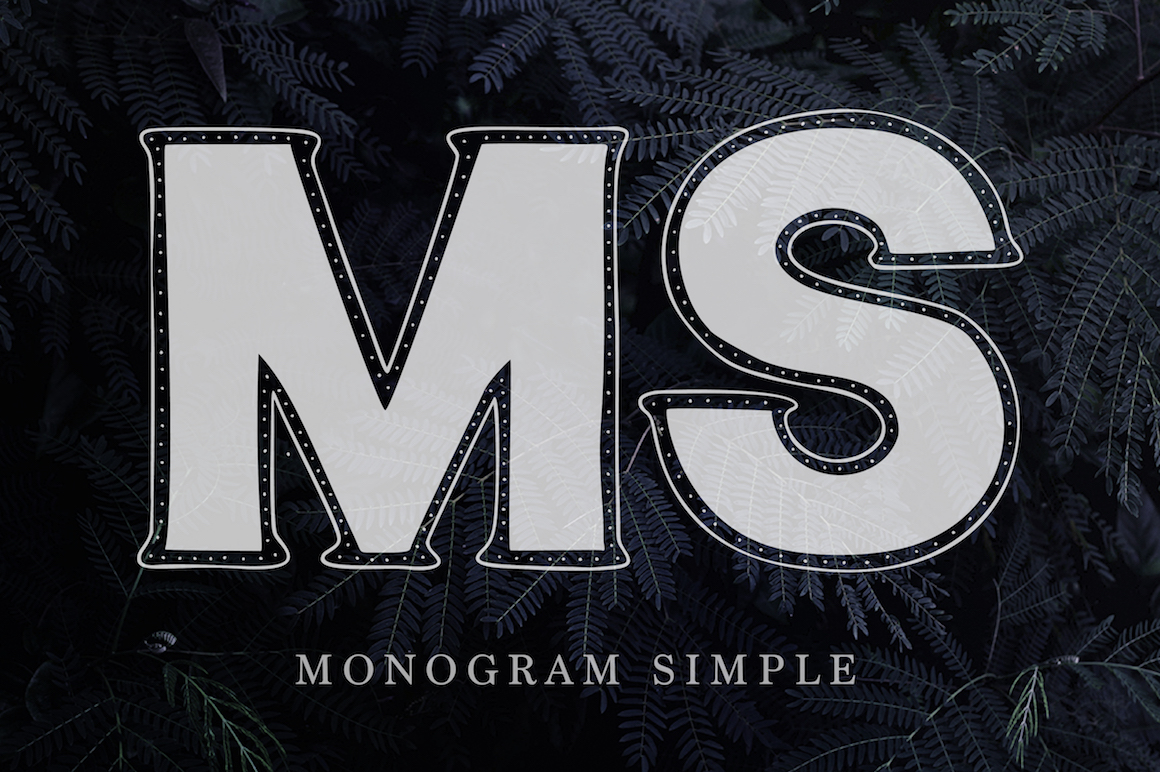 Print on Demand: Monogram Font Family Decorative Font By Red Ink - Image 6