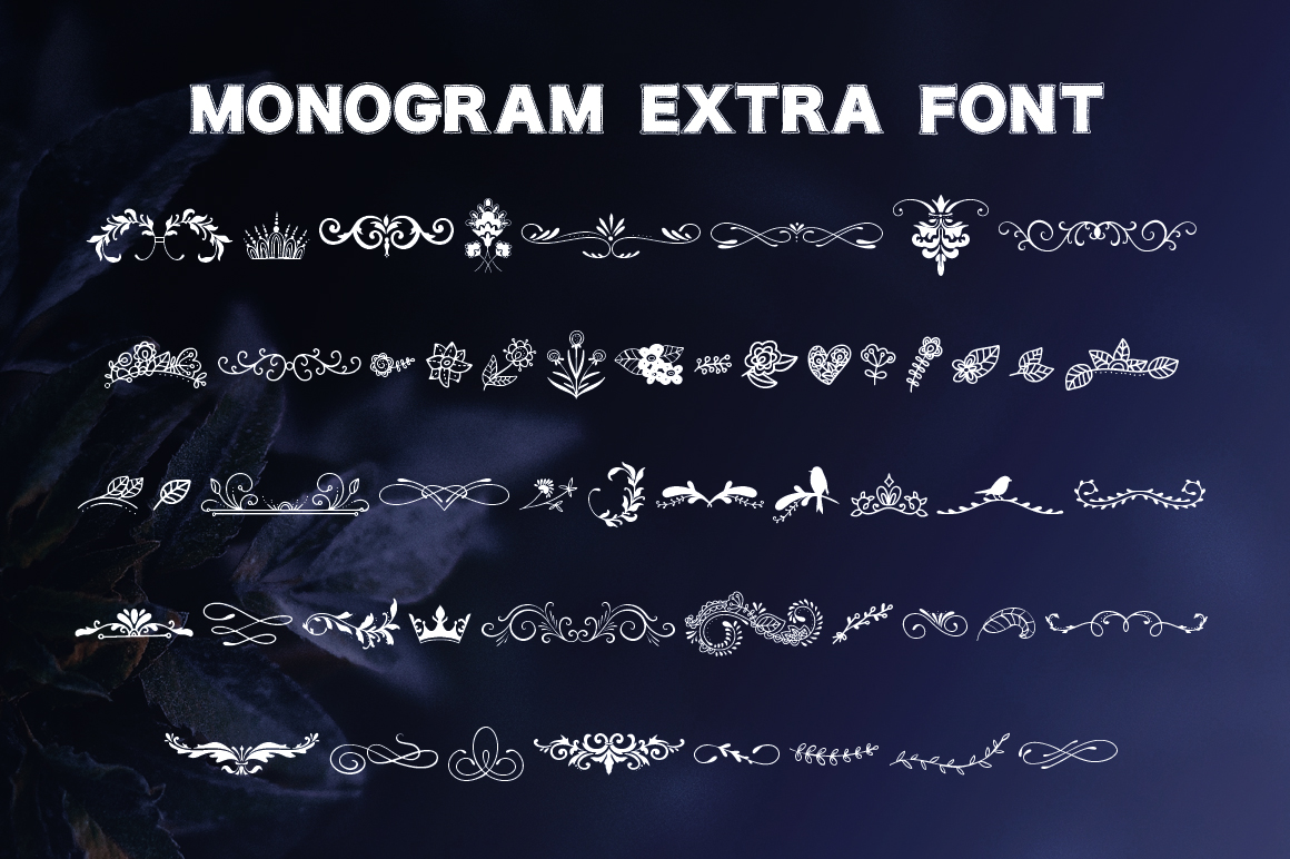 Print on Demand: Monogram Font Family Decorative Font By Red Ink - Image 8