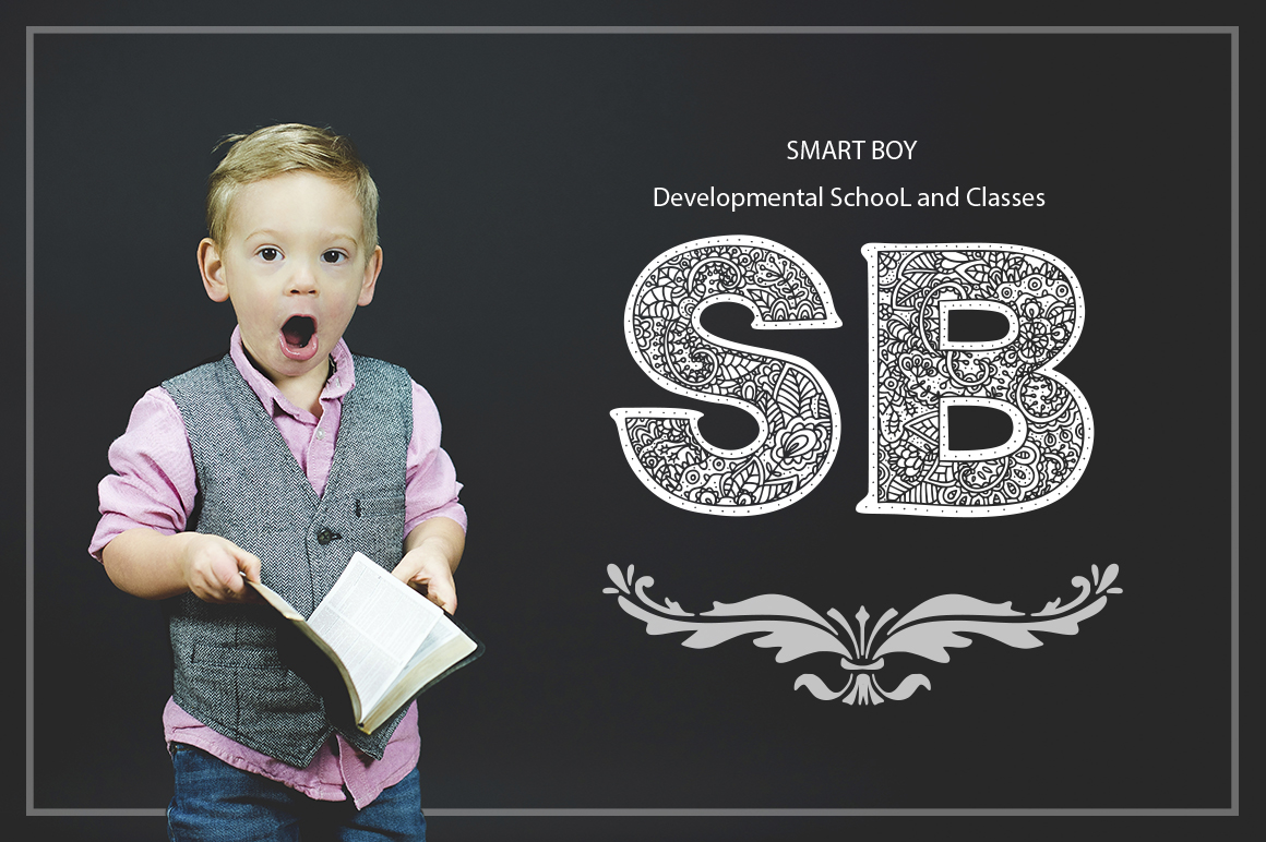 Print on Demand: Monogram Font Family Decorative Font By Red Ink - Image 9