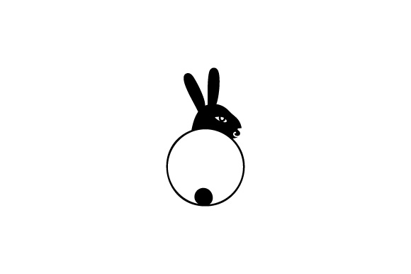Monogram Frame - Easter Bunny SVG Cut file by Creative Fabrica ...