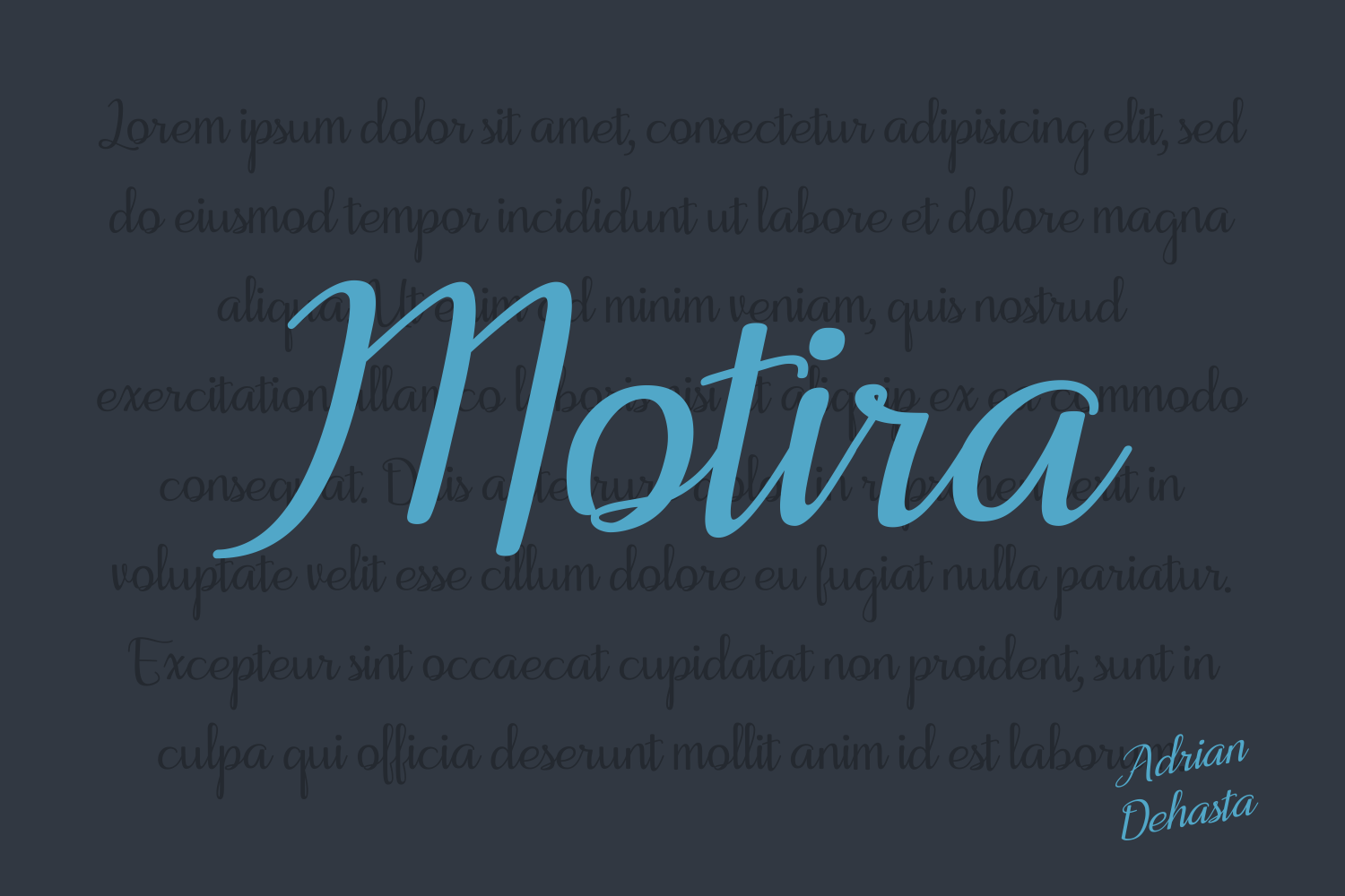 Print on Demand: Motira Script & Handwritten Font By Andrian Dehasta - Image 1