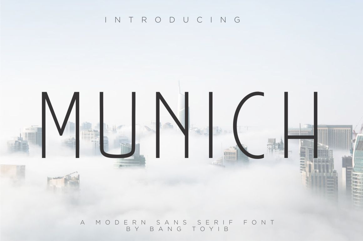Print on Demand: Munich Sans Serif Fuente Por Eldertype Studio