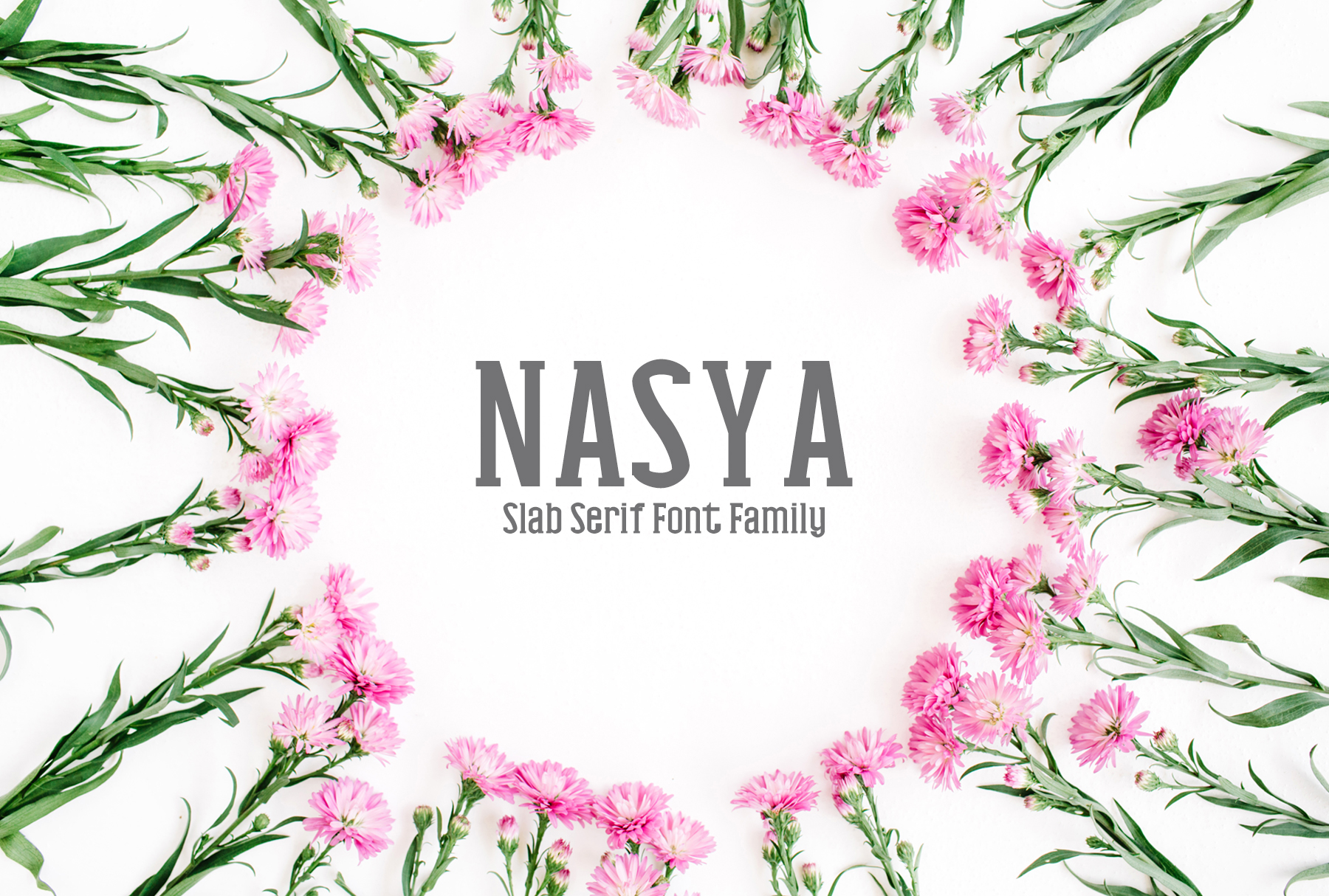 Print on Demand: Nasya Slab Serif Font By Creative Tacos