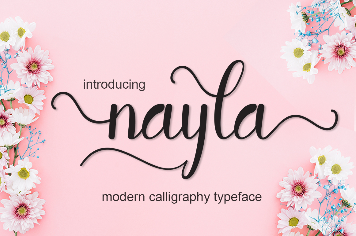 Print on Demand: Nayla Script & Handwritten Font By saidi studio