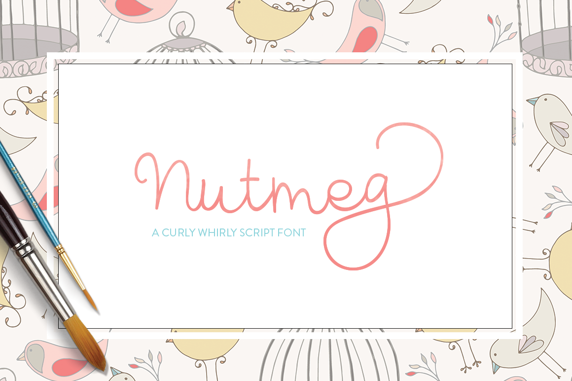 Print on Demand: Nutmeg Script Script & Handwritten Font By Maroon Baboon