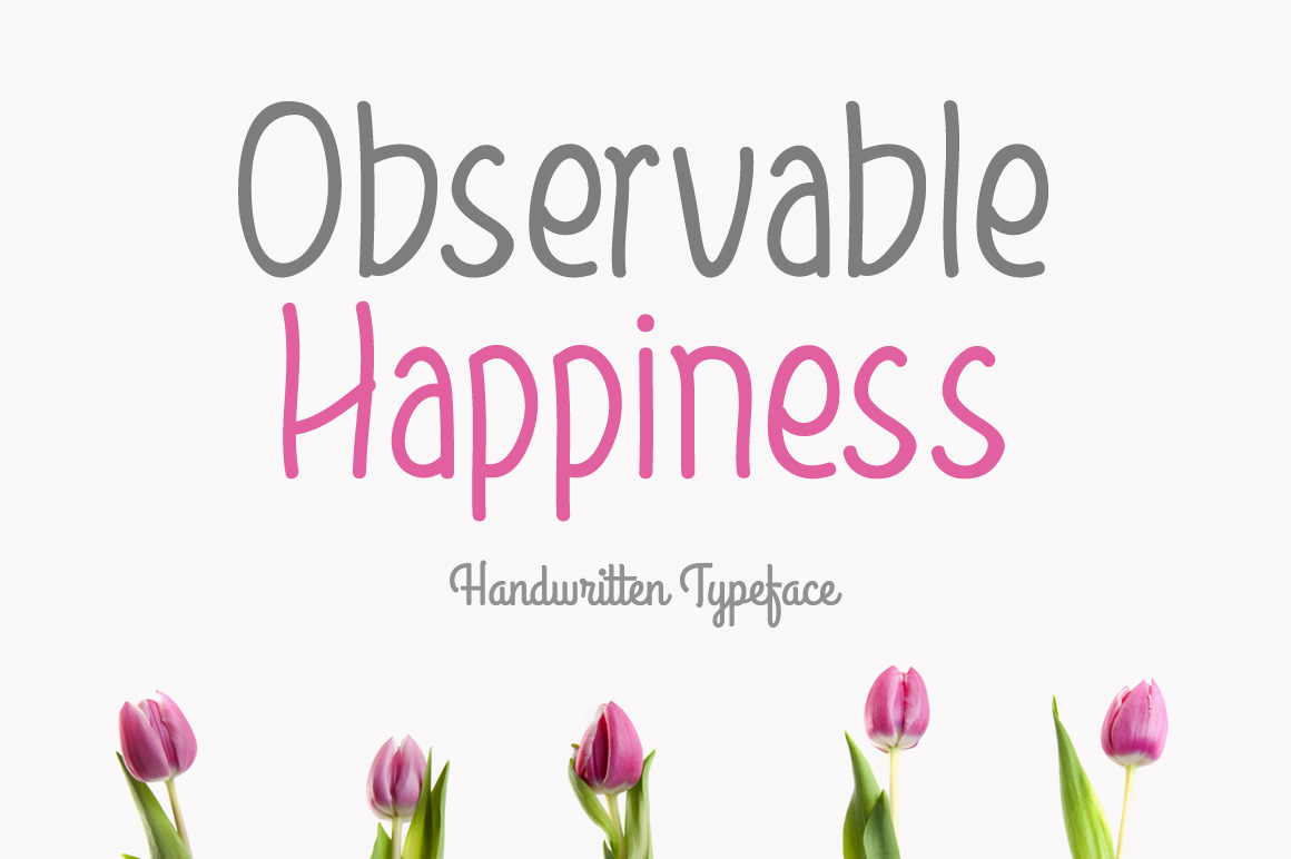 Print on Demand: Observable Happiness Script & Handwritten Font By Contour Fonts