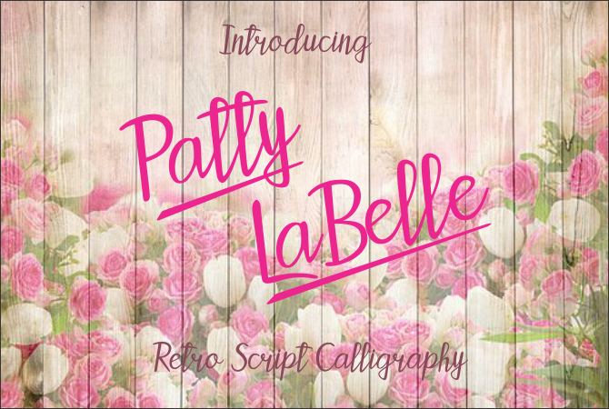 Print on Demand: Patty LaBelle Script & Handwritten Font By Jaime Rangel Castro