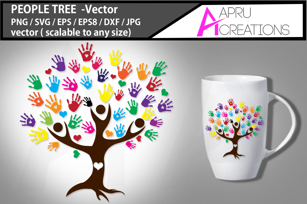 Download Free People Tree Svg Graphic By Aparnastjp Creative Fabrica for Cricut Explore, Silhouette and other cutting machines.