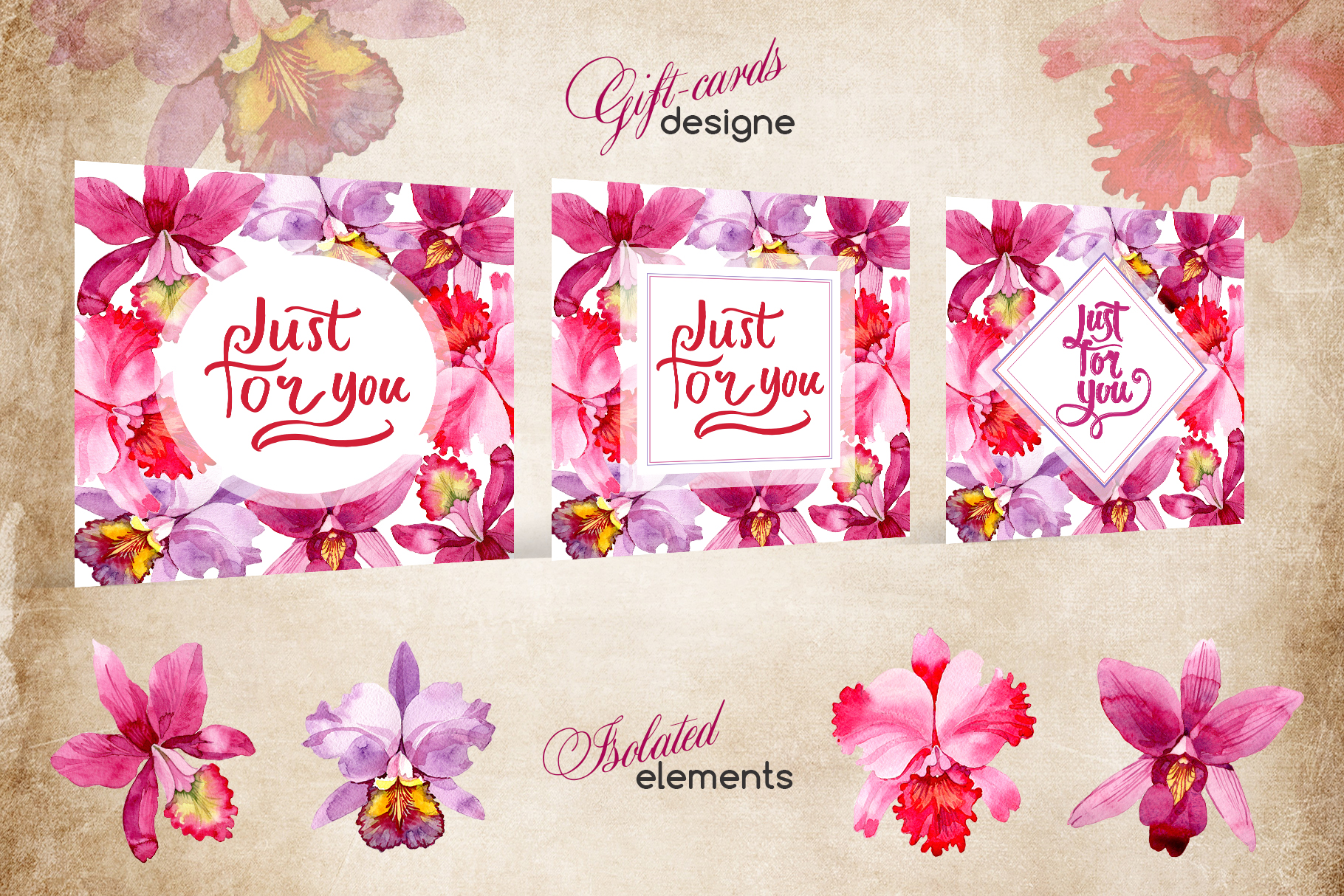Print on Demand: Pink Watercolor Orchid Set Graphic Illustrations By MyStocks - Image 6