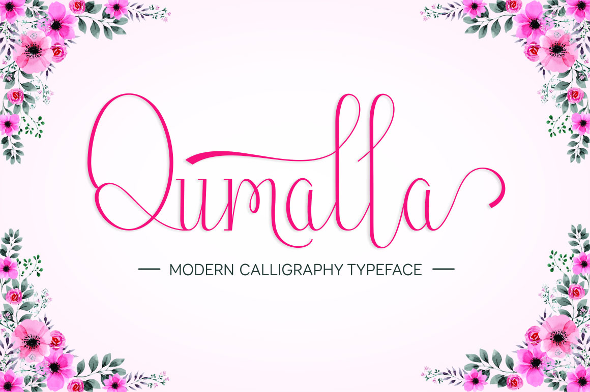 Print on Demand: Qumalla Script & Handwritten Font By wdfont.creative